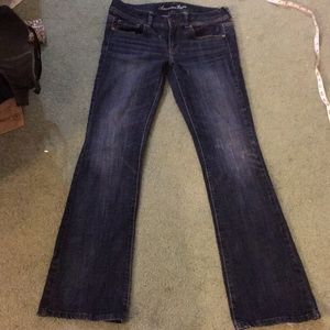American Eagle jeans distressed size 8 Long